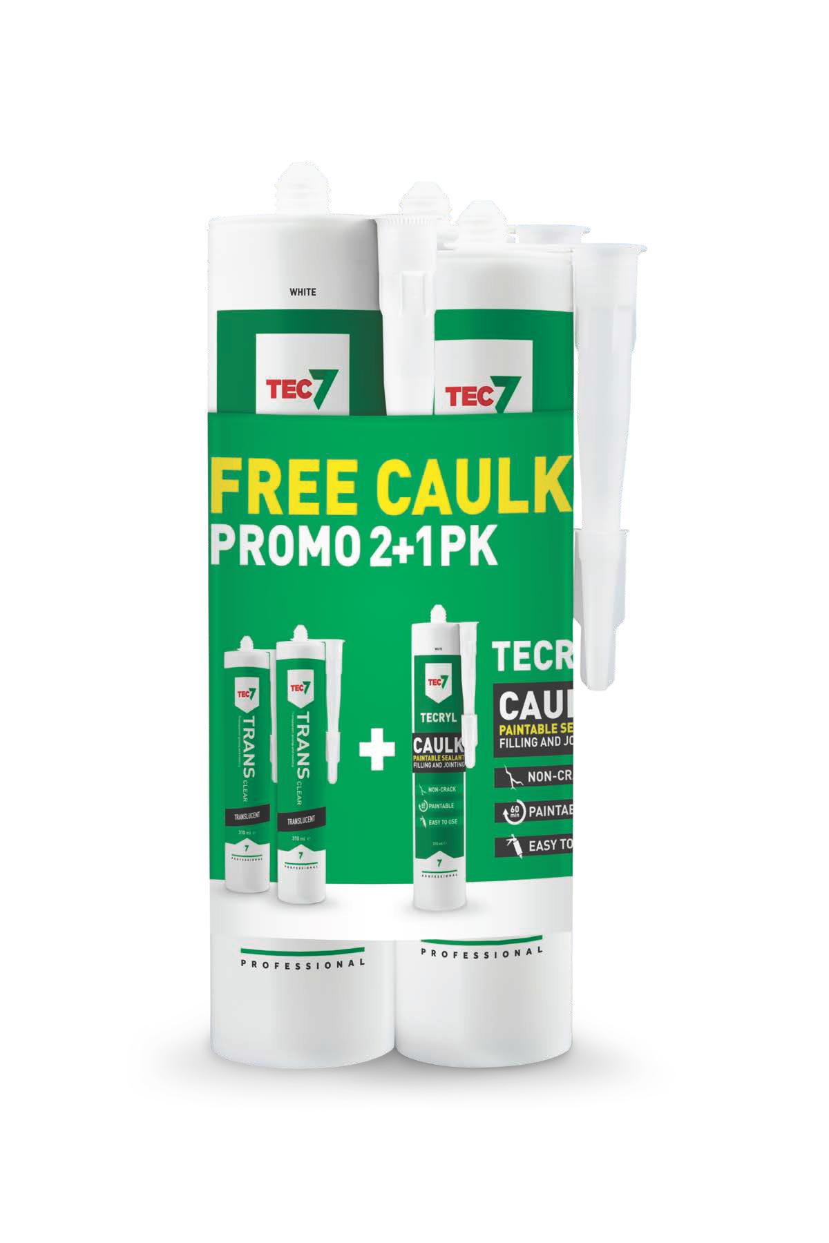 Tec7 Trans Clear & New Caulk Promo Pack